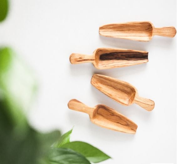 Olive Wood Spice Spoon Set