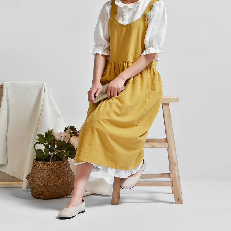 Cotton Garden Work Pinafore