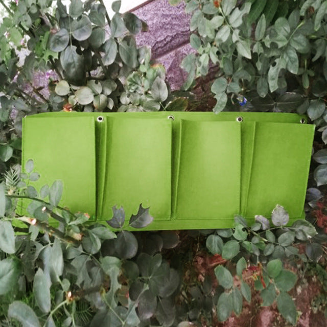 Backyard Garden Vertical Hanging Grow Bags