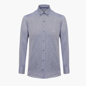 Light Navy %100 Cotton Oxford Shirt