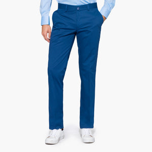 Light Blue Cotton Slim Fit Chino