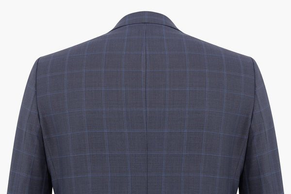 Altınyıldız Slim Fit Blue Plaid %43 Wool Blazer