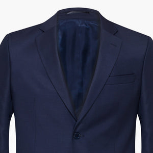 Altınyıldız Navy Tiny Plain Weave Patterned Slim Fit Wool Blazer
