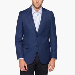 Altınyıldız Blue Tiny Plain Weave Patterned Slim Fit Wool Blazer