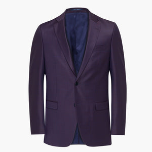 Altınyıldız Purple Plaid & Patterned Slim Fit %88 Wool Blazer