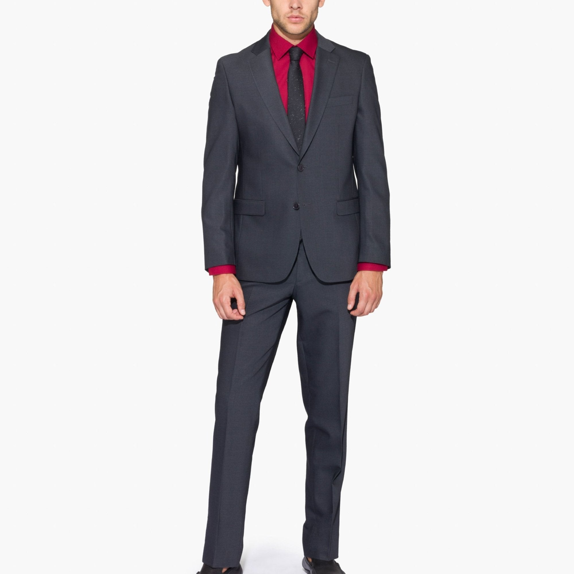 Altınyıldız Slim Fit Grey Wool Suit