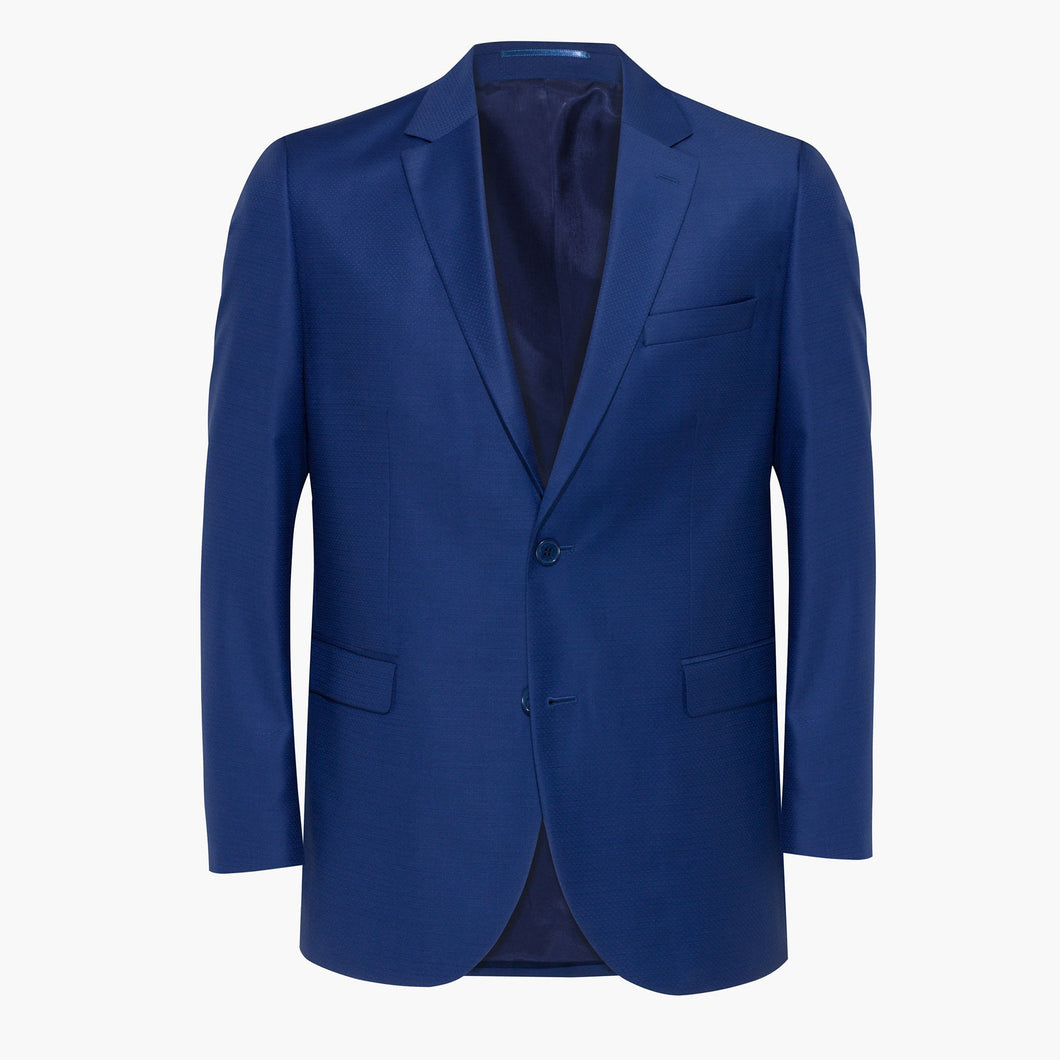 Altınyıldız Regular Short Fit Dotted Blue & Blue Wool Blazer