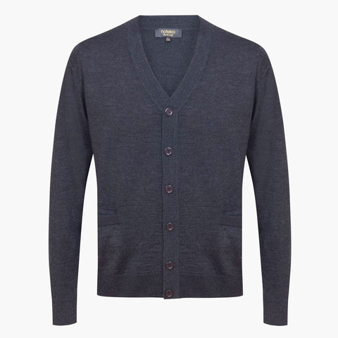 Anthracite Regular Fit Woolen Cardigan
