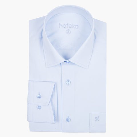 Bebek Blue Regular Fit Dress Shirt