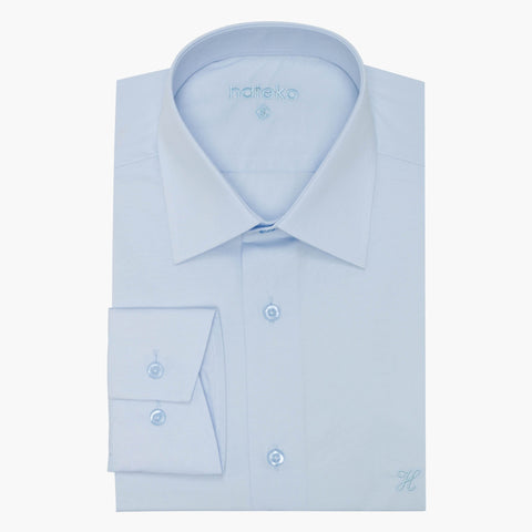 Baby Blue Slim Fit Dress Shirt