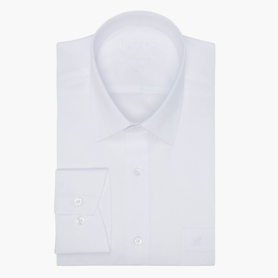 White Regular Fit %100 Cotton Oxford Shirt