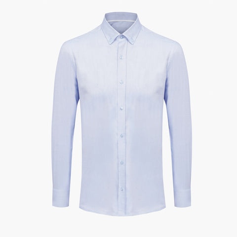 Ice Blue %100 Cotton Oxford Shirt