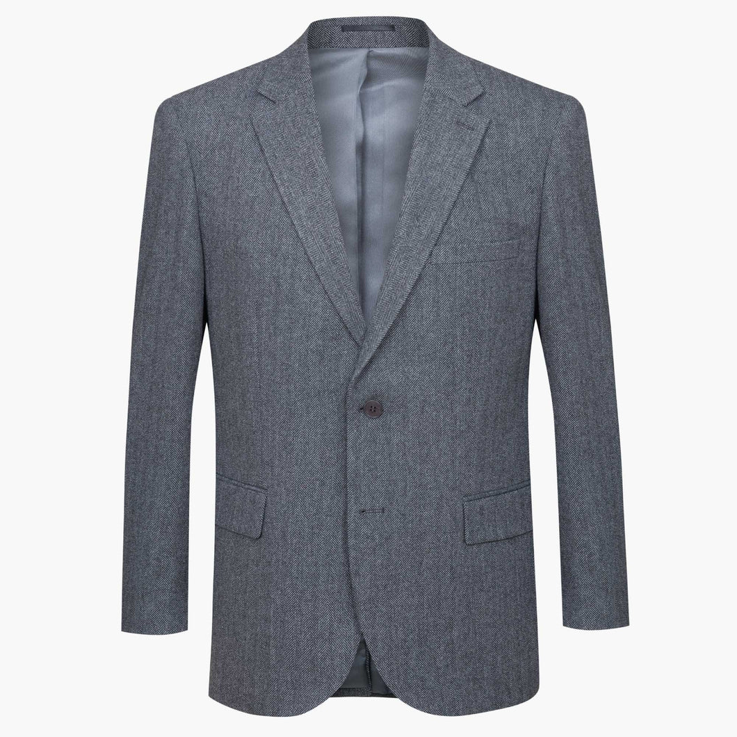Altınyıldız Winter Regular Short Fit Grey Black Herringbone Patterned Wool Blazer