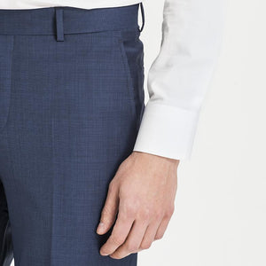 Altınyıldız Regular Fit End-on-end Blue %88 Wool Trouser