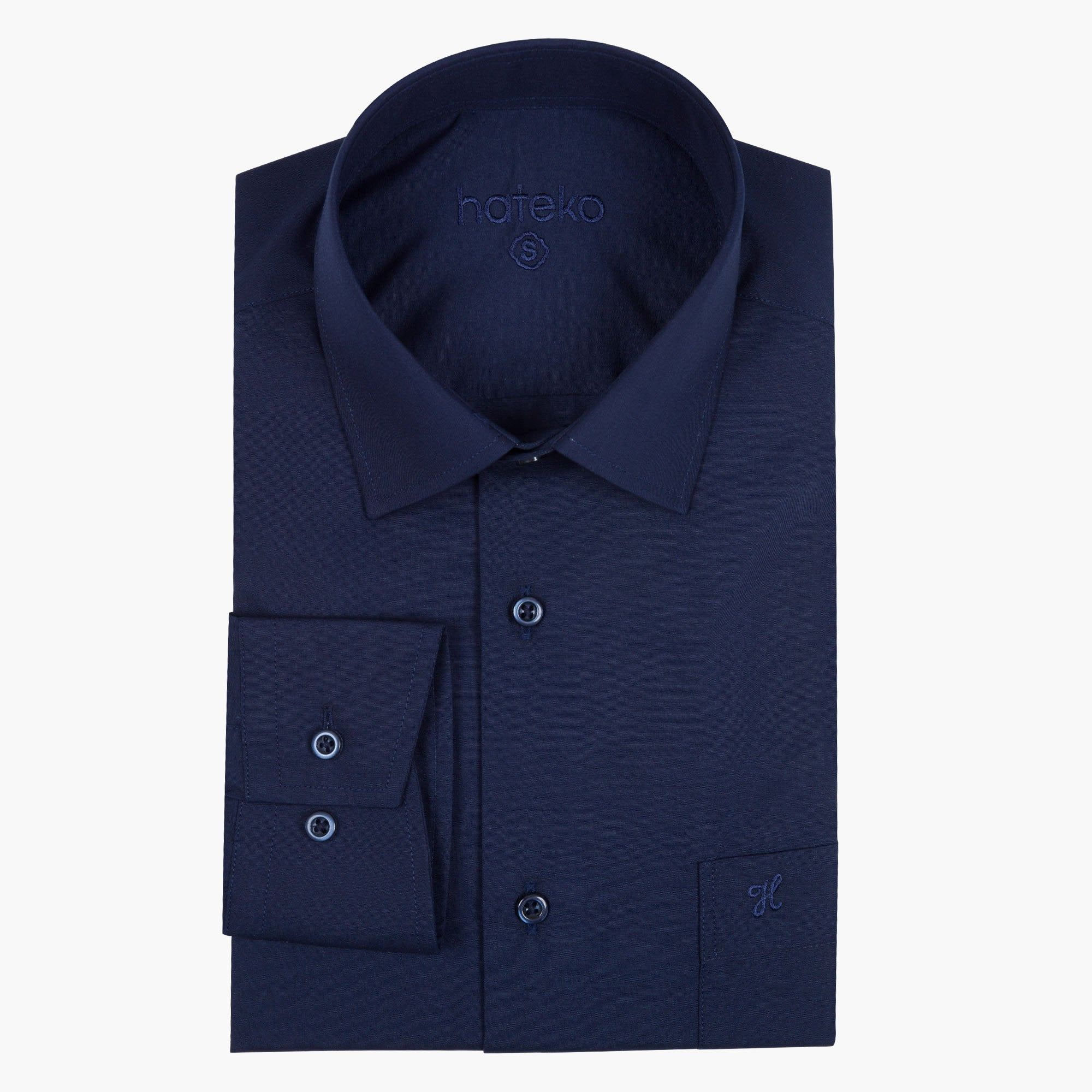 Navy Regular Fit Dress Shirt