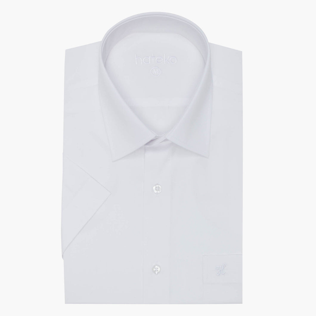 Regular Fit Short Sleeve White Shirt