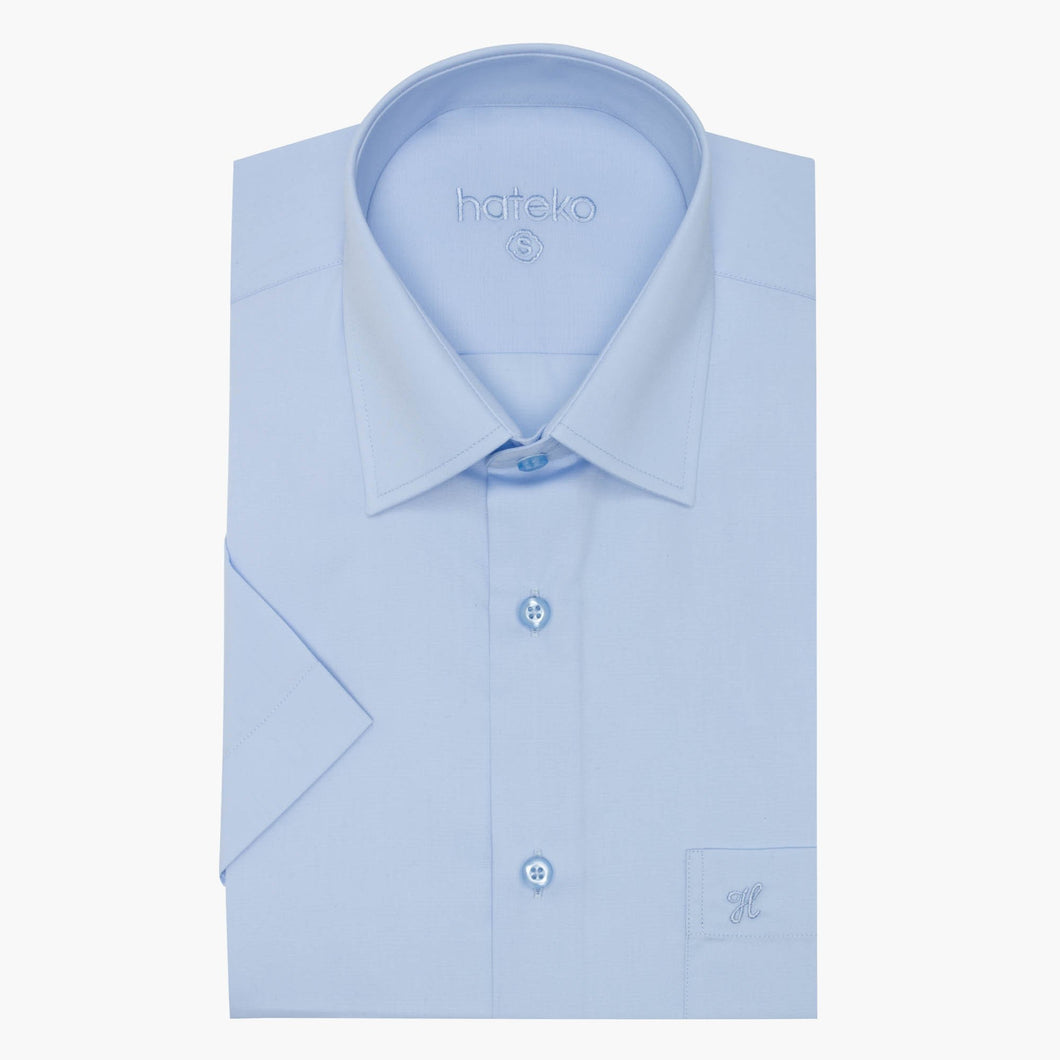 Regular Fit Short Sleeve Ice Blue Shirt
