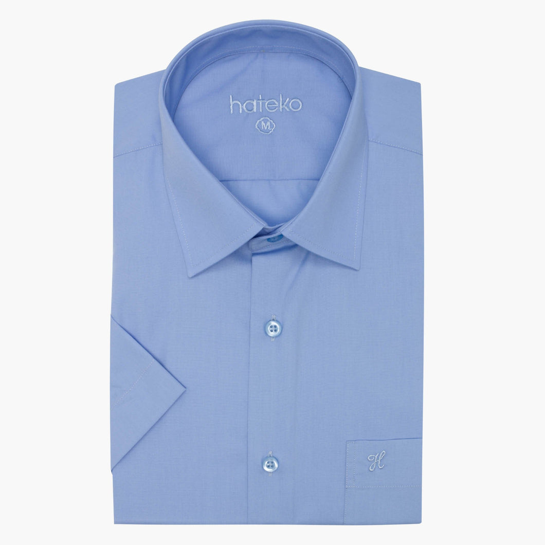 Regular Fit Short Sleeve Blue Shirt