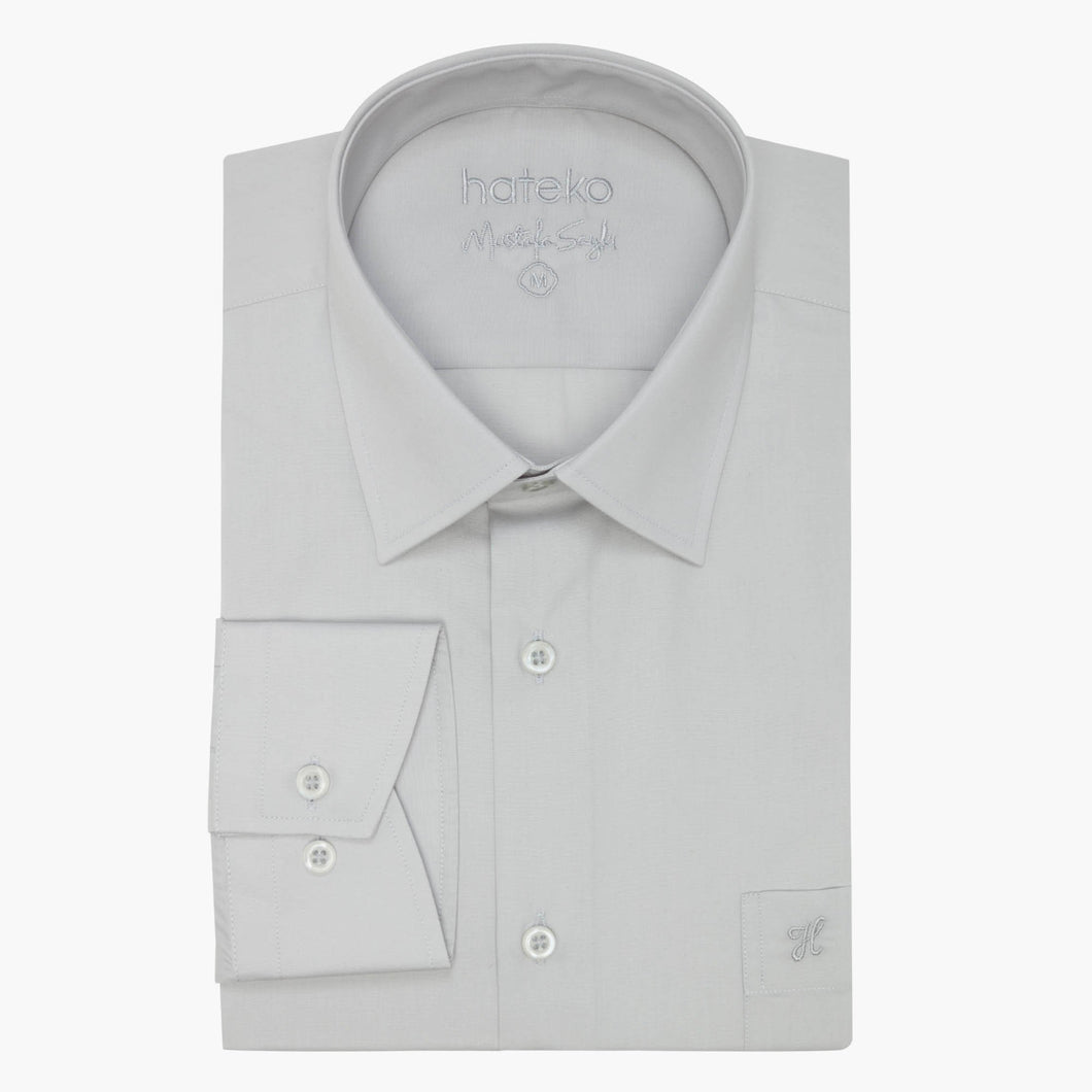 Light Grey Regular Fit Dress Shirt