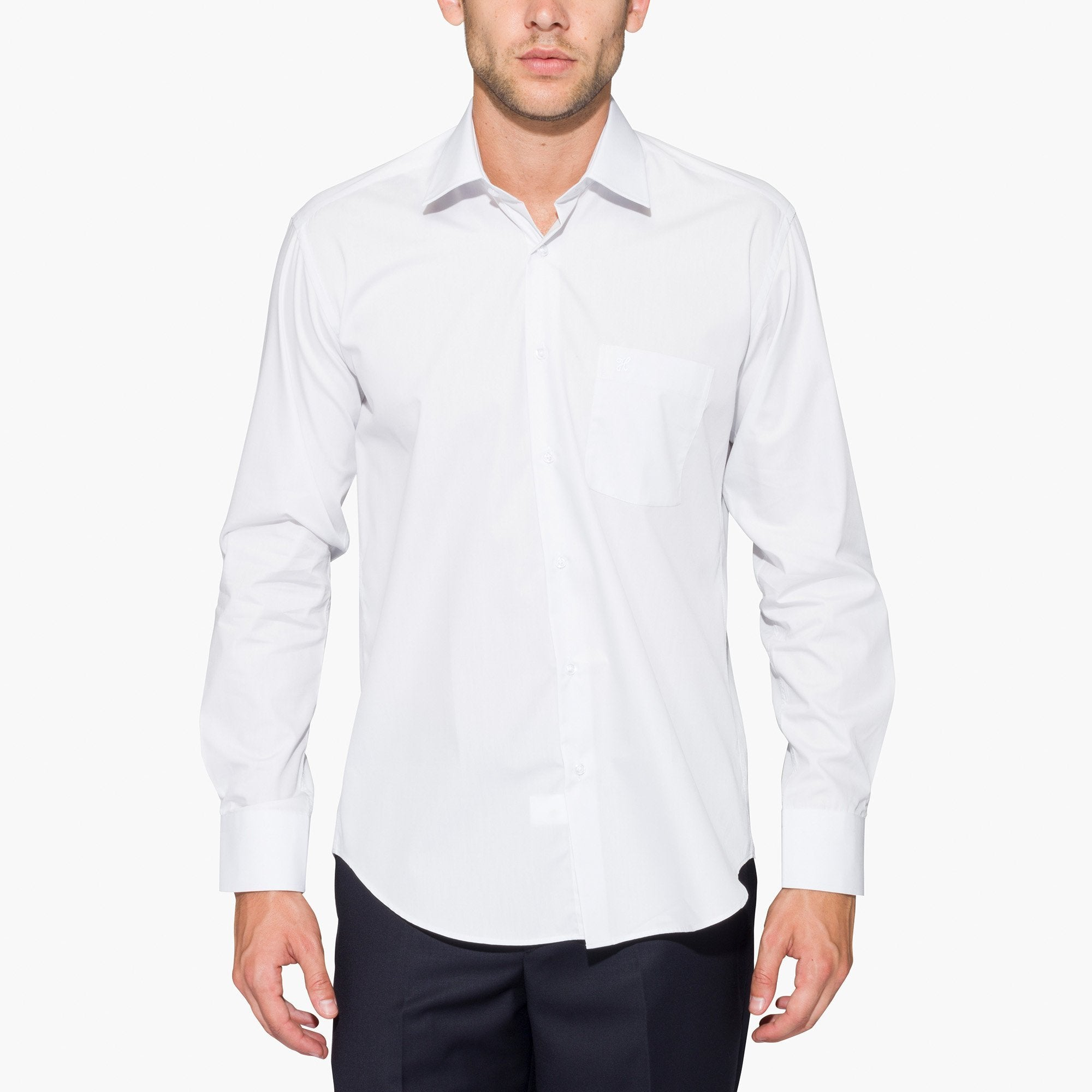 Ice Grey Regular Fit Dress Shirt