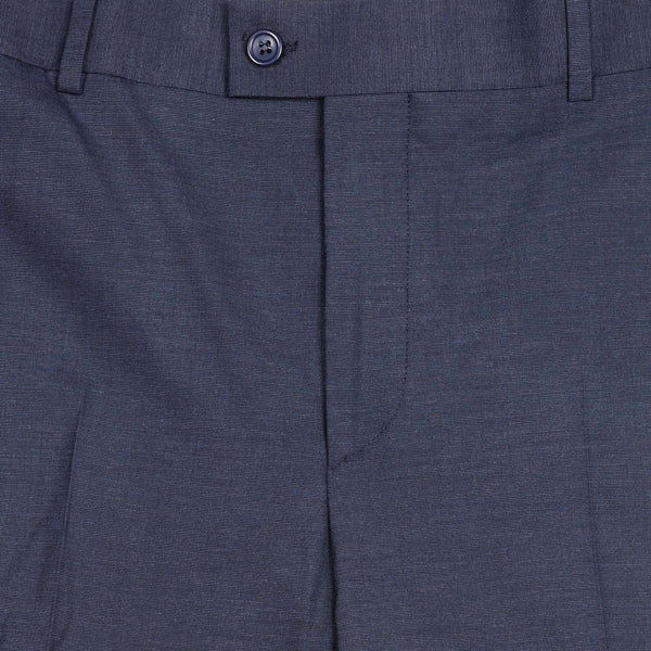 Regular Fit End-on-end Dark Blue & Grey Trouser