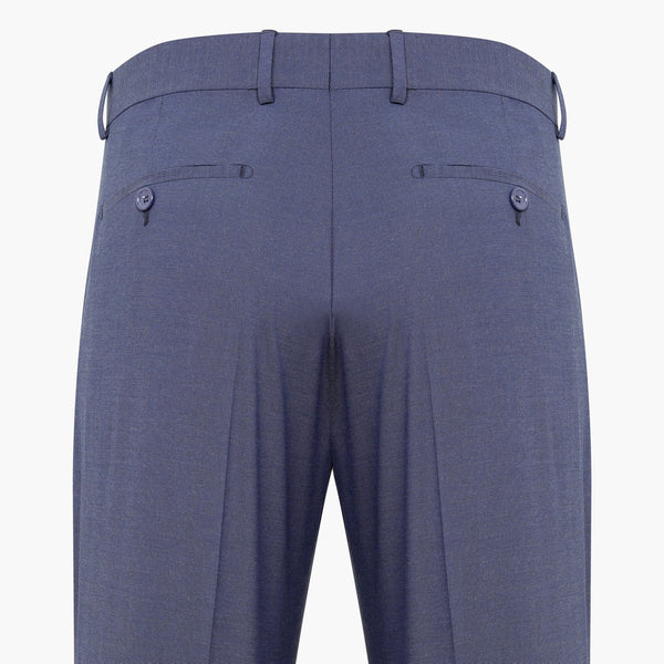 Regular Fit End-on-end Saxe Blue & Grey Trouser
