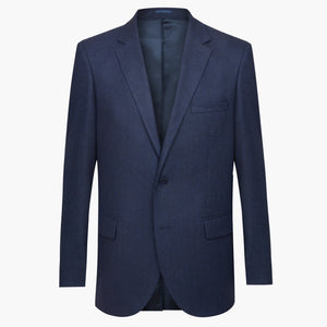Altınyıldız Winter Regular Short Fit Navy Black Herringbone Patterned Wool Blazer