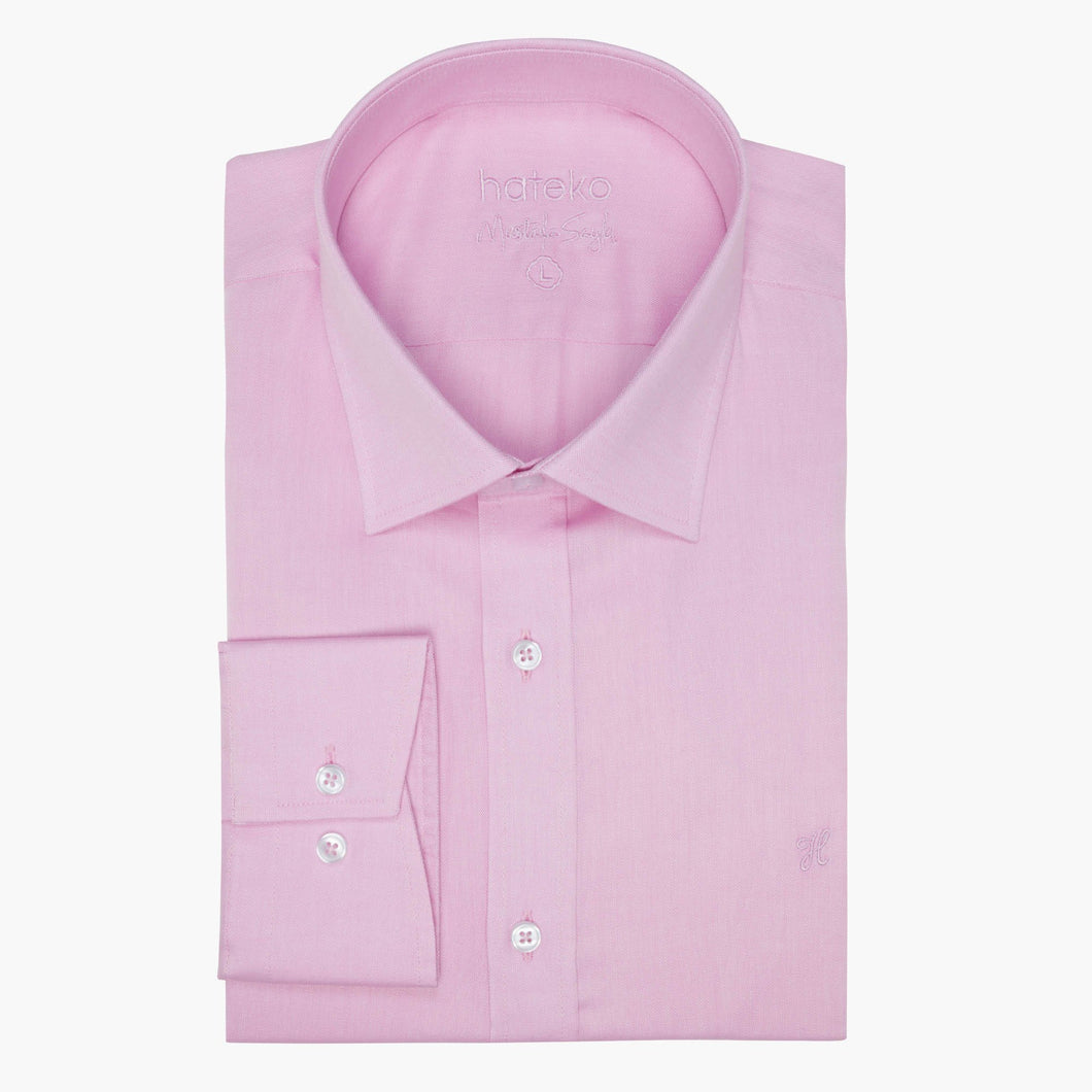 Pink %100 Cotton Oxford Slim Fit Shirt