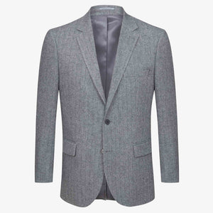 Altınyıldız Winter Regular Short Fit Grey Herringbone Patterned Wool Blazer