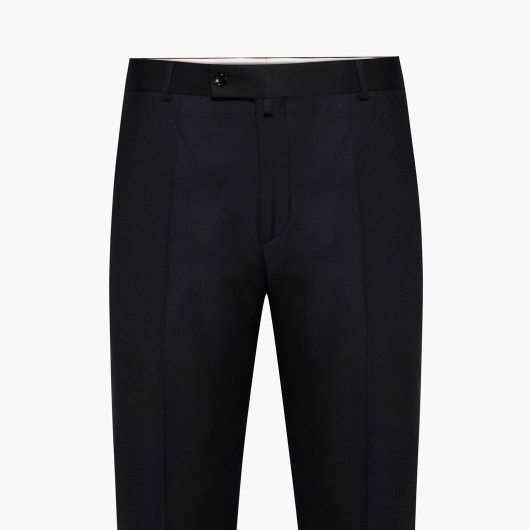 Regular Fit Black Matt Trouser