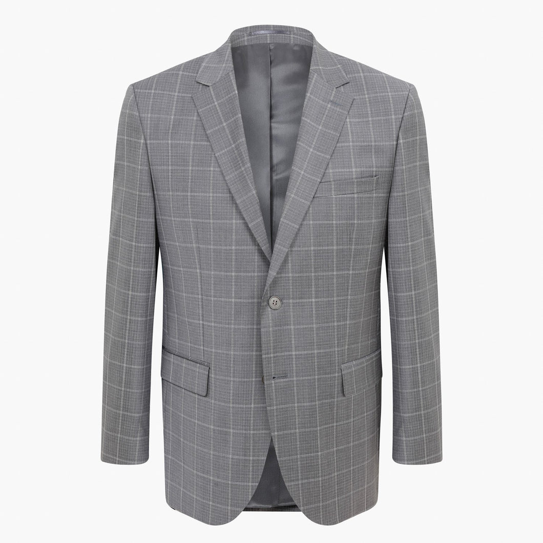 Altınyıldız Regular Short Fit Grey Plaid %88 Wool Blazer