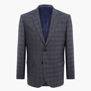 Altınyıldız Regular Short Fit Dark Blue Plaid %43 Wool Blazer