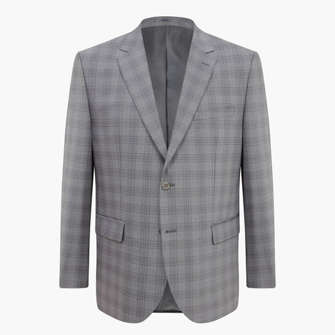 Altınyıldız Regular Short Fit Grey Plaid %43 Wool Blazer