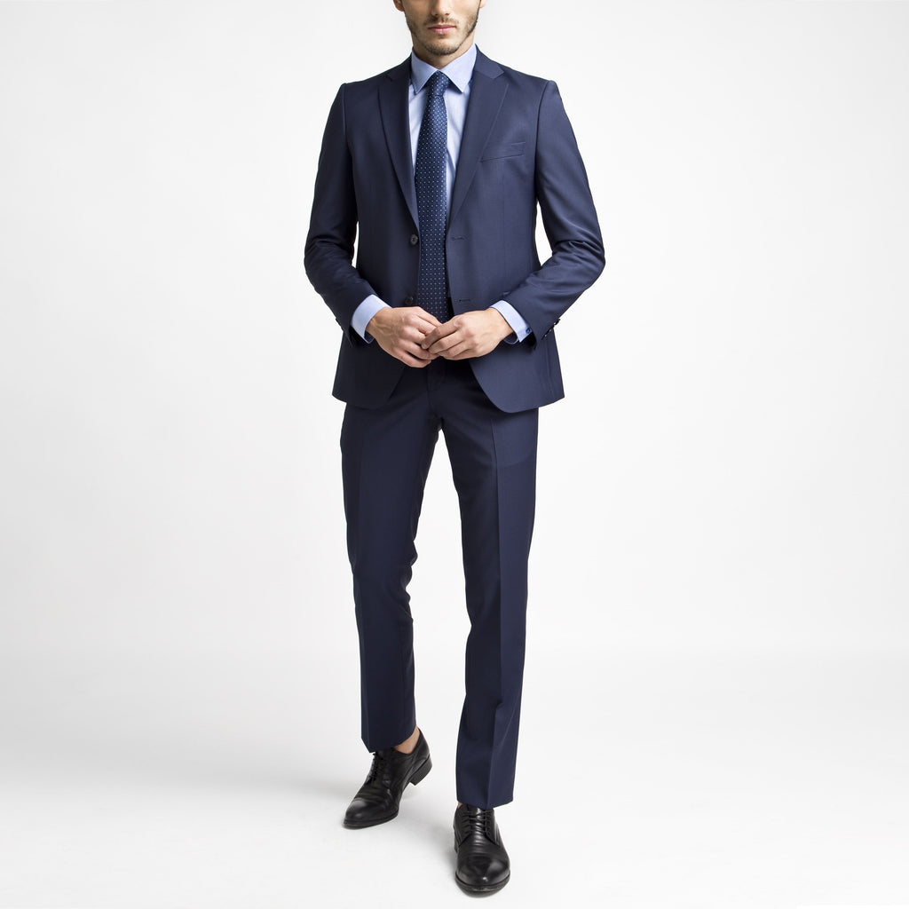 Altınyıldız Slim Fit Blue Wool Suit