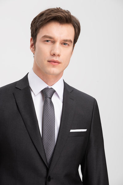 Altınyıldız Slim Fit Anthracite 88% Wool Suit