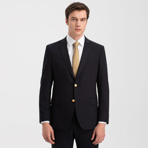 Slim Fit Dark Navy 43% Wool Blazer