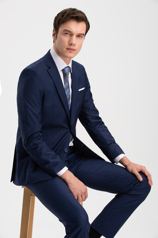 Altınyıldız Slim Fit Blue 88% Wool Suit