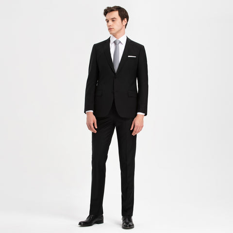 Altınyıldız Slim Fit Black 88% Wool Suit