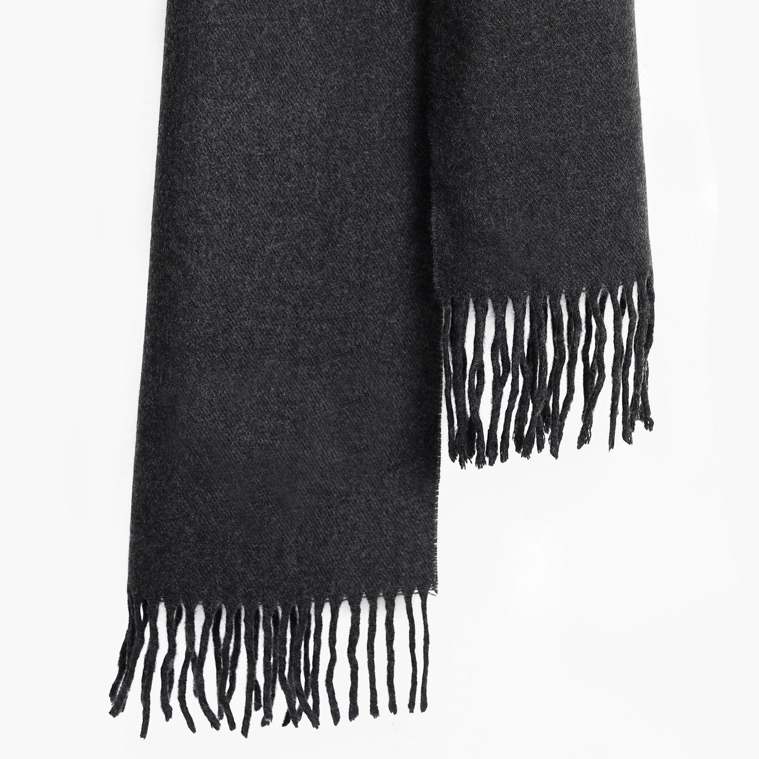 Plain Anthracite Textured Scarf