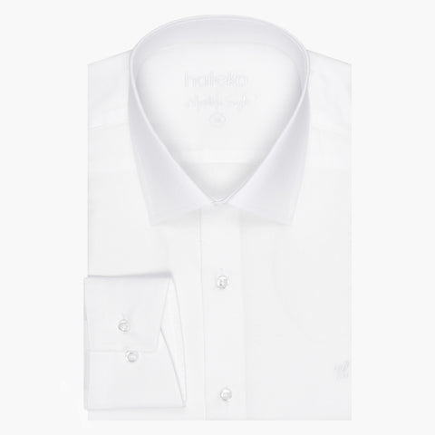 100% Cotton Slim Fit White Dress Shirt