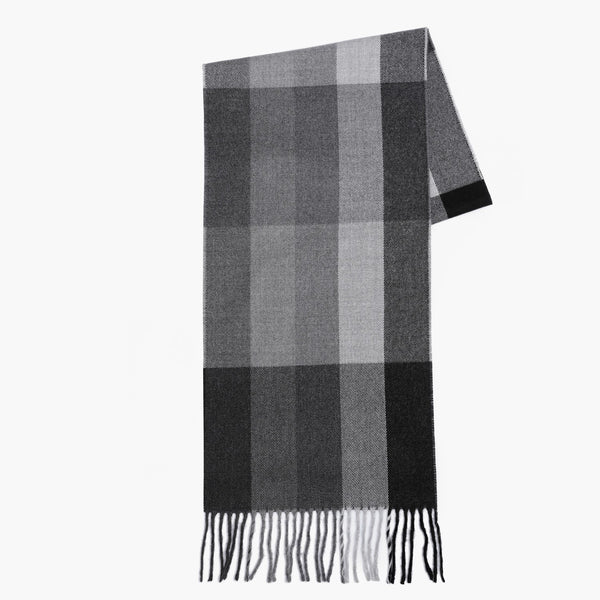 Black and Grey DikSquared Patterned Scarf