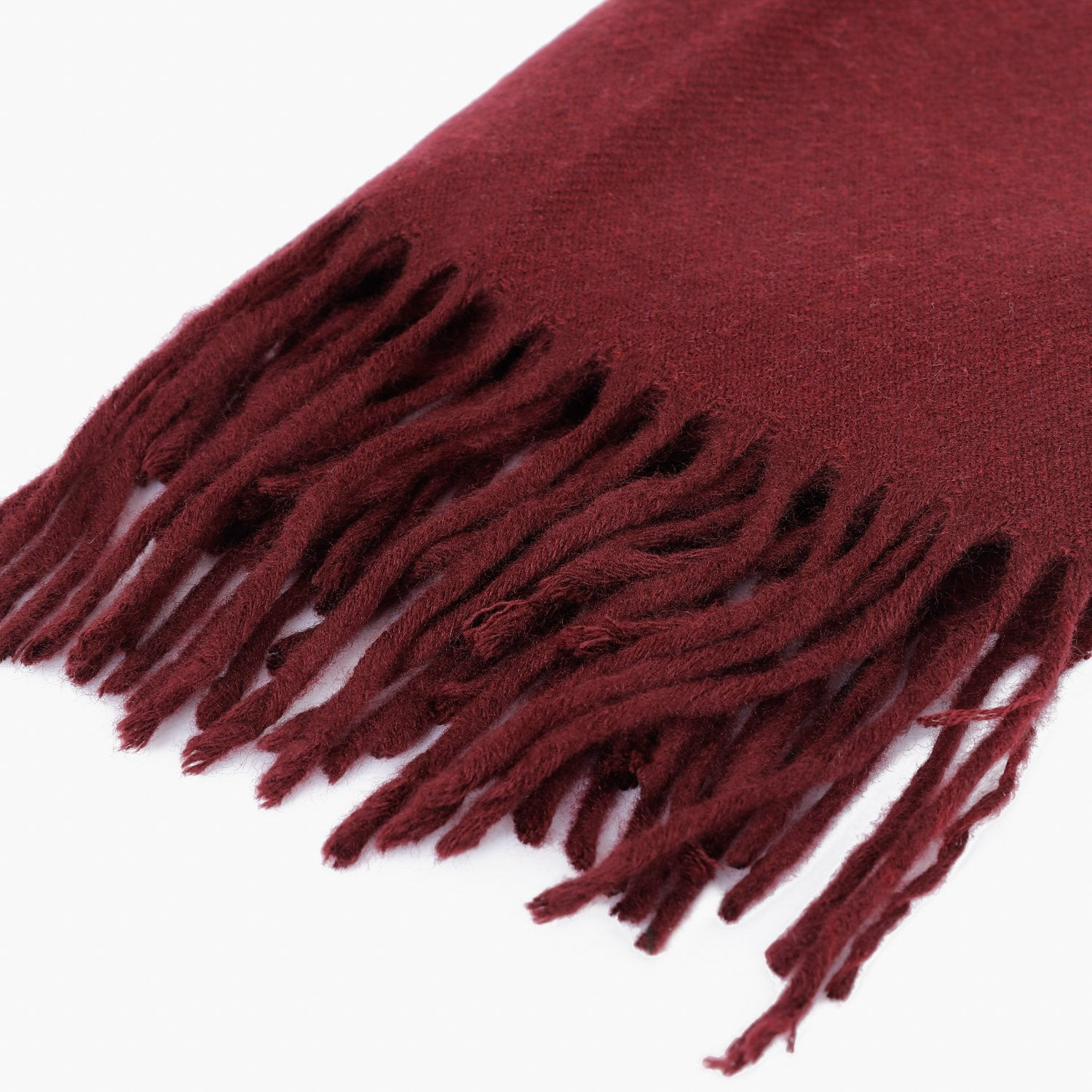Plain Maroon Textured Scarf
