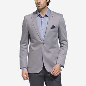 Palme Grey Slim Fit Cotton Blazer