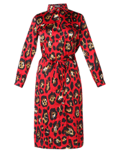 Load image into Gallery viewer, Animal Print Waist Knot Shift Dress