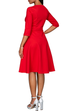Load image into Gallery viewer, Red A line Flare Dress