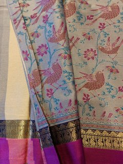 Bird Print Muslin Cotton