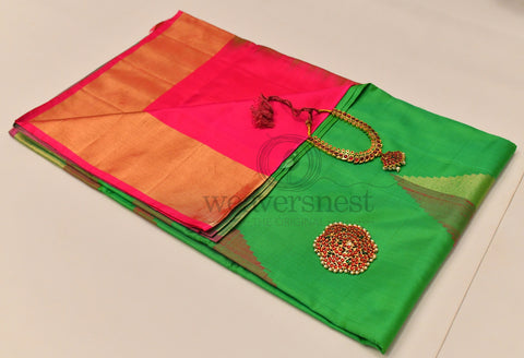 Green Orange Soft Silk