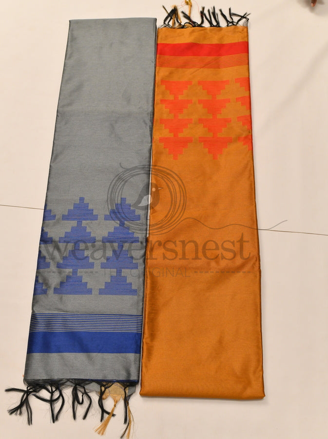 Dupion Saree - Temple Design