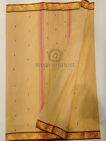 Cream Chettinad Cotton Saree