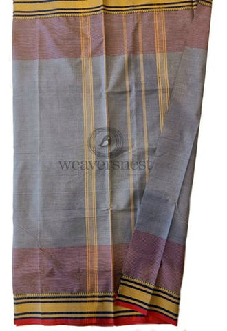 Casual Cotton Saree in Grey